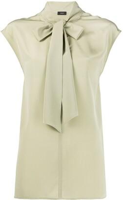 Joseph Nancy silk tie-neck blouse