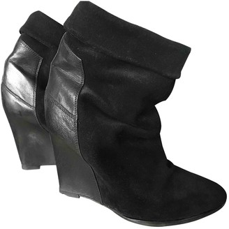 IRO Black Suede Ankle boots