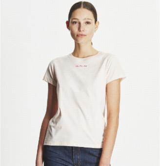 Maison Labiche Pale Pink Me Me Me Printed T-Shirt - xs