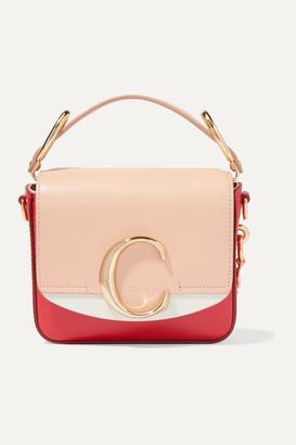Chloé C Mini Color-block Leather Shoulder Bag - Pink