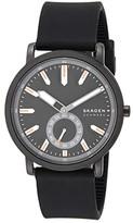 Skagen Colden Three-Hand Silicone Watch (Black) Watches