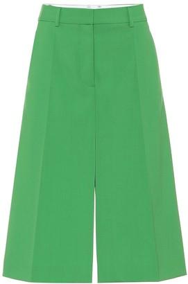 Stella McCartney Alisha wool A-line midi skirt