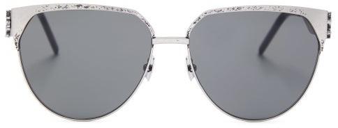 ae047c9400 Aviator Tarnished Metal Sunglasses - Mens - Silver