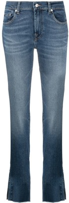 7 For All Mankind Straight-Leg Denim Jeans