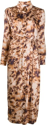 Nanushka Tie Dye Shirt Dress