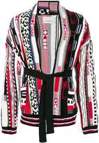 Laneus mixed knit jacket