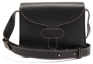 Maison Margiela Topstitched Leather Cross-body Bag - Black