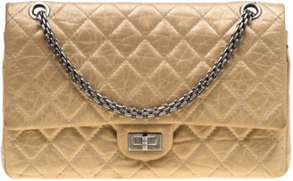 Chanel Gold Quilted Leather Reissue 2.55 Classic 226 Flap Bag