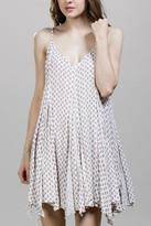 En Creme Printed Layer Dress