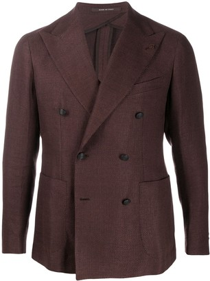 Tagliatore Knitted Double Breasted Blazer