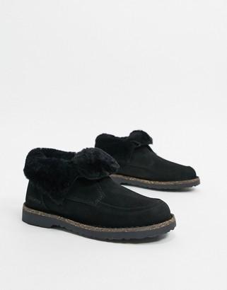 Birkenstock Bakki cold weather lined ankle boots in black