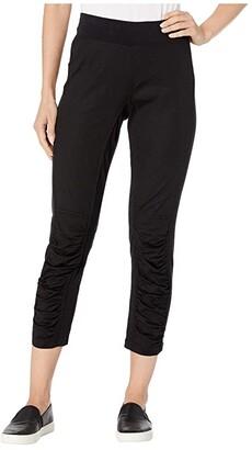 XCVI Jetter Crop in Stretch Poplin (Black) Women's Casual Pants