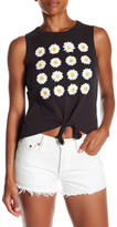 Chaser Jersey Daisy Tie Front Tank