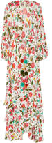 Figue Frederica Floral Wrap Silk Maxi Dress
