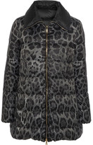 Moncler Alimede Leopard-print Quilted Shell Down Coat - Leopard print