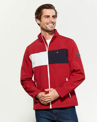 Tommy Hilfiger Softshell Color Block Zip-Up Jacket