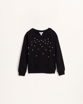 Splendid Girls Star Studded Sweatshirt