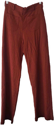 Paloma Wool Burgundy Viscose Trousers