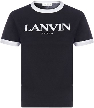 Lanvin Logo Embroidered Crewneck T-Shirt