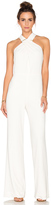 Halston Cross Neck Sleeveless Jumpsuit