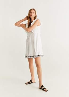 MANGO Frills embroidered dress