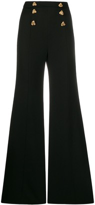 Elisabetta Franchi High-Rise Flared Trousers