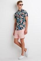 Forever 21 Linen-Blend Drawstring Shorts