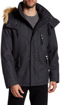 Andrew Marc Fremont Faux Fur Trim Hooded Jacket