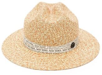 Maison Michel Tylie logo-ribbon hat