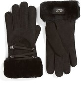 UGG Lace Up Genuine Shearling Gloves