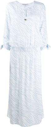 Heidi Klein Animal-Print Tie-Neck Dress