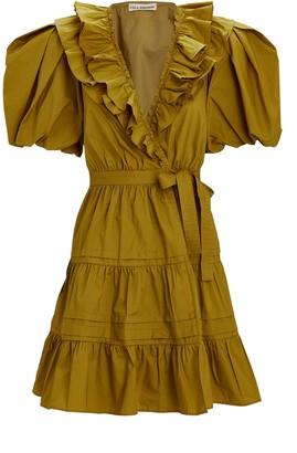 Ulla Johnson Maude Ruffled Cotton Poplin Dress