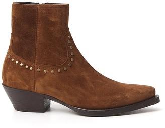 Saint Laurent Lukas Stud-Detailed Ankle Boots