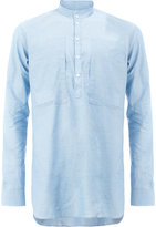 Balmain collarless shirt - men - Cotton - 38