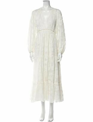 Ulla Johnson V-Neck Long Dress White