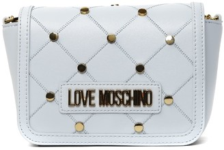 Love Moschino Azul Color Faux Leather Mini Studs Bag