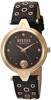 Versus By Versace Women's 'V eyelets' Quartz Stainless Steel and Leather Casual Watch, Color:Brown (Model: SCI060016)