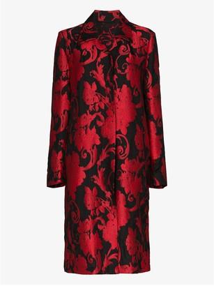 Dries Van Noten Rolta floral jacquard coat
