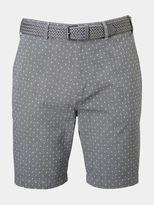 Burton Burton Grey Print Belted Smart Shorts