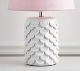 Pottery Barn Kids Ceramic Petal Lamp Base- White