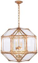 Urban Classic Gordon Collection 4-Light Pendant, Golden Iron
