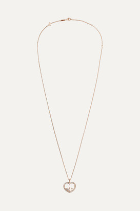 Chopard Net Sustain Happy Diamonds 18-karat Rose Gold Diamond Necklace