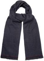 Ermenegildo Zegna Micro-checked wool scarf