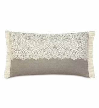 Thayer Eastern Accents Sabelle Brush Fringe Lumbar Pillow Eastern Accents