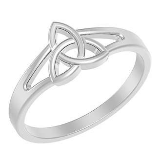 Celtic Solid .925 Sterling Silver Knot Ring (Size-8)