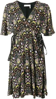 Chloé printed ruffle mini dress