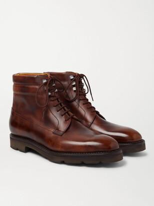 John Lobb Alder Burnished-Leather Boots