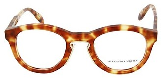 Alexander McQueen 49MM Round Optical Glasses