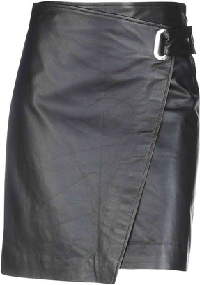 FEDERICA TOSI Black Leather Skirt for Women