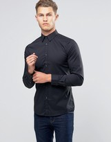 Benetton Slim Fit Shirt with Stretch
